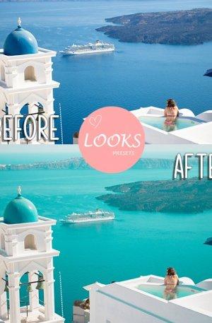 Mykonos Travel Blog Preset for lightroom to design instagram