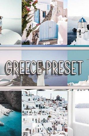 Greece Travel Blog Preset for lightroom to design instagram