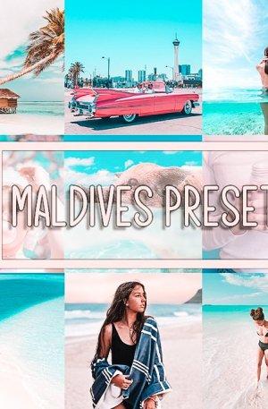 Maldives Travel Blog Preset for lightroom to design instagram