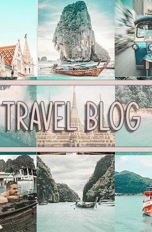 Travel Blog Preset for lightroom to design instagram