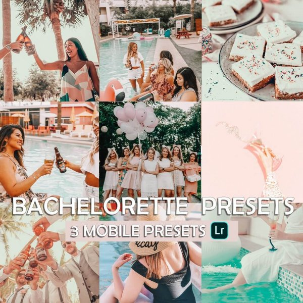 Bachelorette Preset for lightroom to design instagram presets