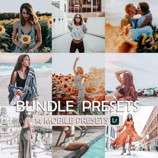 Bundle Preset for lightroom to design instagram presets