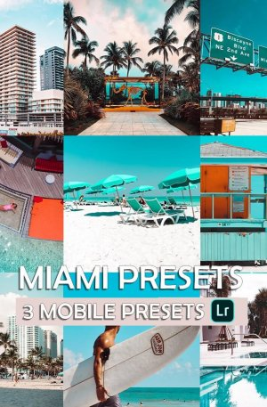 Miami Preset for lightroom to design instagram presets