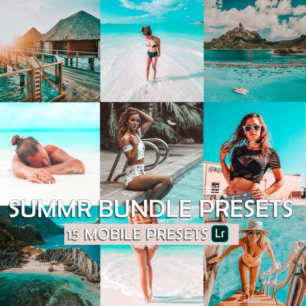 Summer Bundle Preset for lightroom to design instagram presets