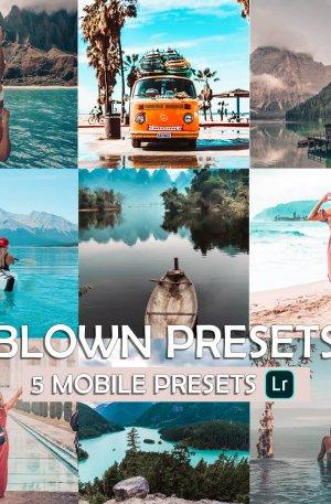 Blue Travel Bundle Preset for lightroom to design instagram presets