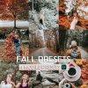 Fall Wall Preset for lightroom to design instagram presets
