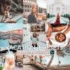 Vacation Bundle Preset for lightroom to design instagram presets