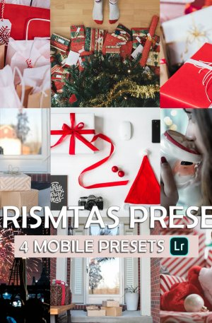 Christmas Preset for lightroom to design instagram presets