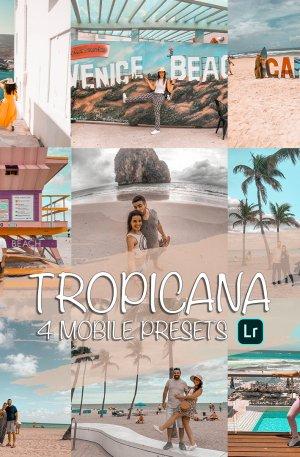 Tropicana Preset for lightroom to design instagram presets