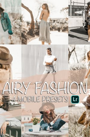 Airy Fashion Preset for lightroom to design instagram presets