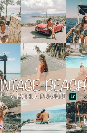 Vintage Beachy Preset for lightroom to design instagram presets
