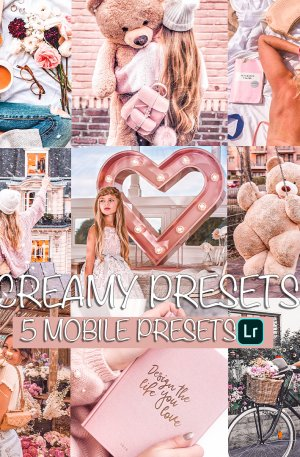 Creamy Preset for lightroom to design instagram presets