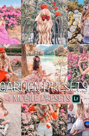 Garden Preset for lightroom to design instagram presets