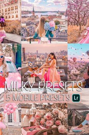 Milky Preset for lightroom to design instagram presets