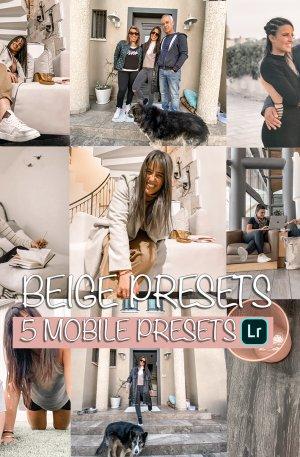 Beige Preset for lightroom to design instagram presets